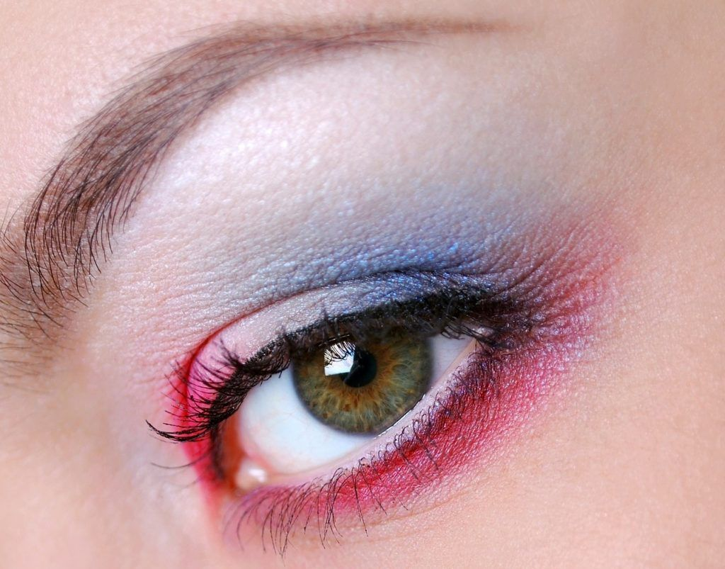 maquillaje lentes de contacto