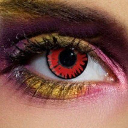lentillas rojas vampiro