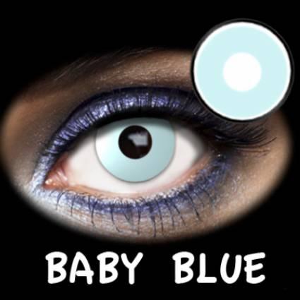 Lentillas azules baby blue